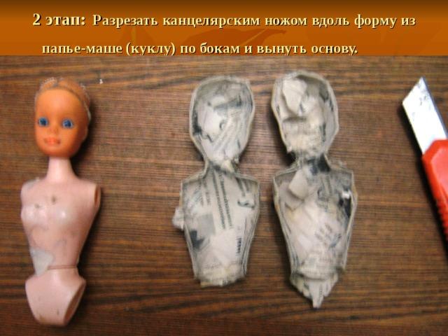 Кукла из папье-маше своими руками пошагово в картинках
